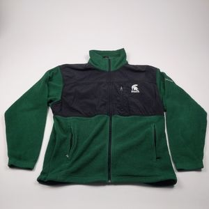 Columbia Large Michigan State MSU Fleece Jacket
